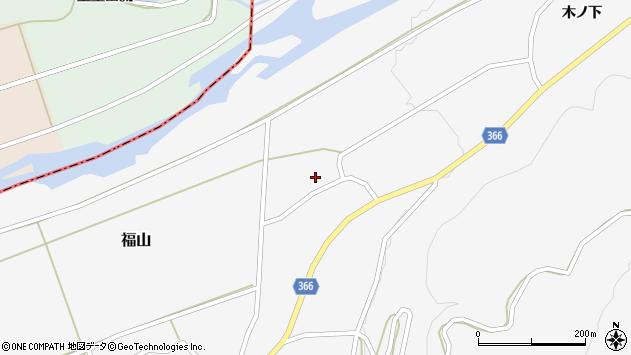 山形県酒田市福山中村周辺の地図