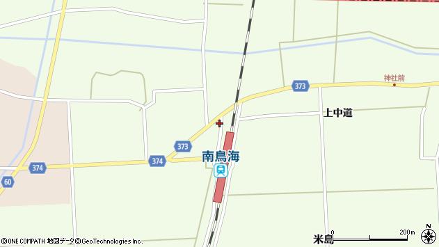 山形県酒田市米島下中道6周辺の地図