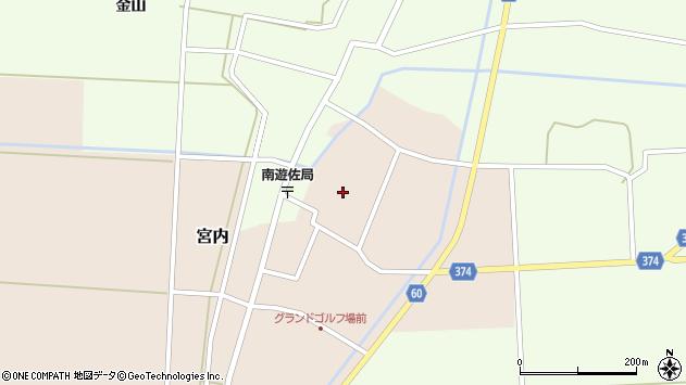 山形県酒田市宮内本楯132周辺の地図