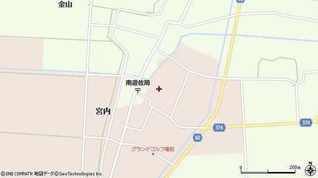 山形県酒田市宮内本楯133周辺の地図