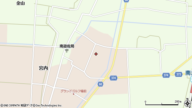山形県酒田市宮内本楯121周辺の地図