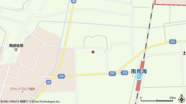 山形県酒田市米島中草田32周辺の地図