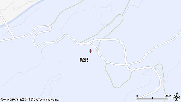 山形県酒田市泥沢上村周辺の地図