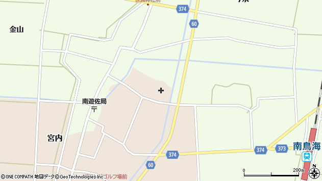 山形県酒田市宮内本楯161周辺の地図