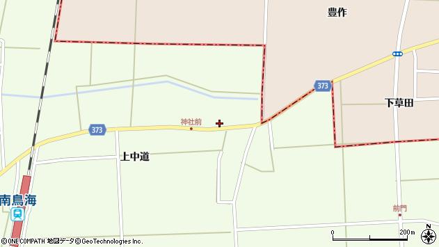 山形県酒田市米島上草田31周辺の地図