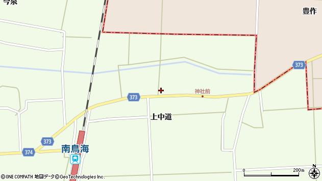 山形県酒田市米島上草田88周辺の地図