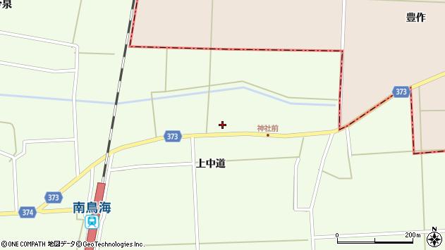 山形県酒田市米島上草田84周辺の地図