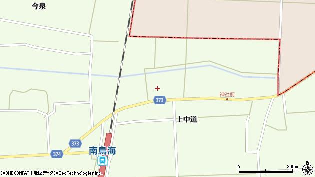 山形県酒田市米島上草田103周辺の地図