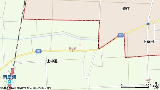 山形県酒田市米島上草田58周辺の地図