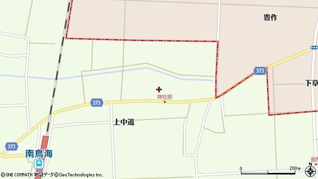 山形県酒田市米島上草田周辺の地図