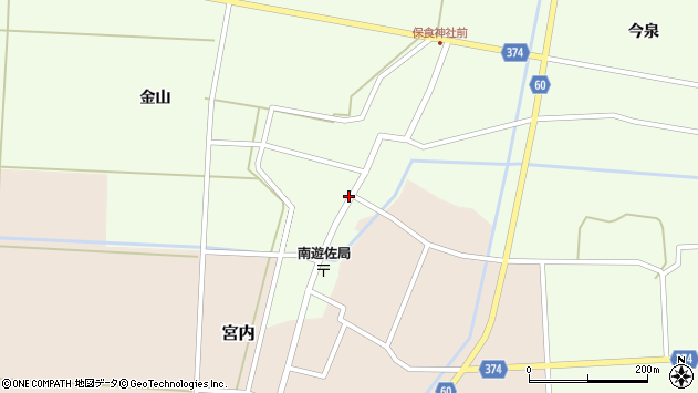 山形県酒田市千代田外野48周辺の地図