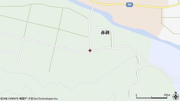 山形県酒田市赤剥村腰39周辺の地図