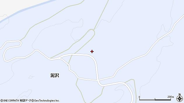 山形県酒田市泥沢作田谷地周辺の地図