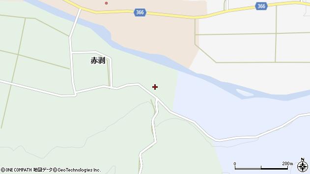 山形県酒田市赤剥村腰86周辺の地図
