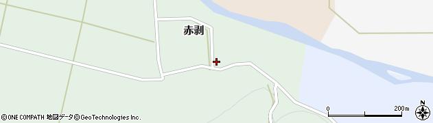 山形県酒田市赤剥村腰周辺の地図