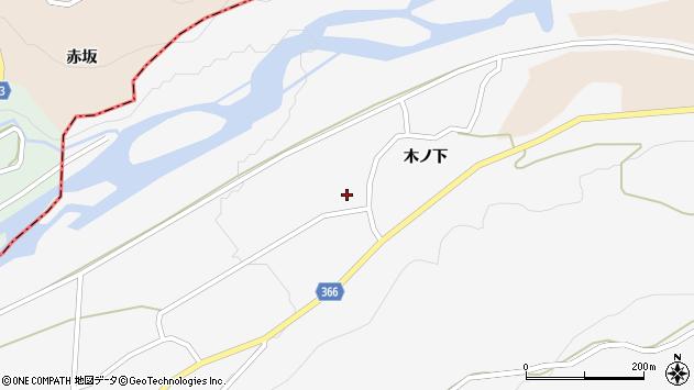 山形県酒田市福山木ノ下周辺の地図