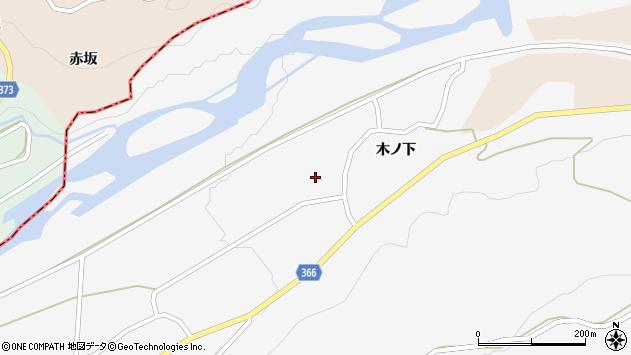 山形県酒田市福山木ノ下10周辺の地図