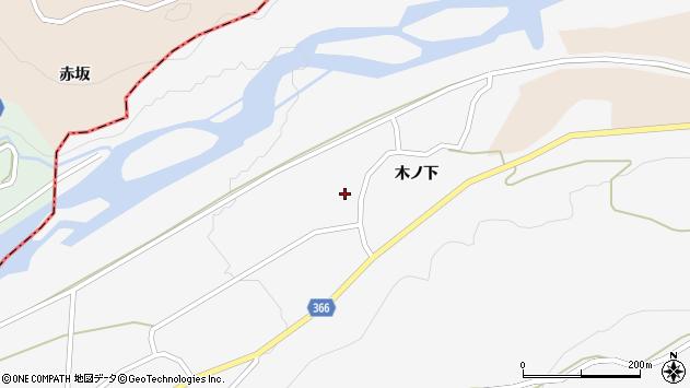 山形県酒田市福山木ノ下9周辺の地図