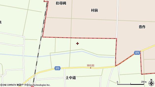 山形県酒田市千代田上草田周辺の地図