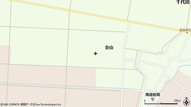 山形県酒田市千代田金山周辺の地図