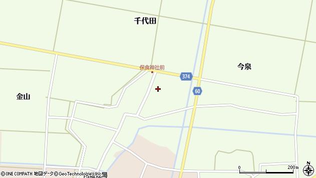 山形県酒田市千代田諏訪面4周辺の地図