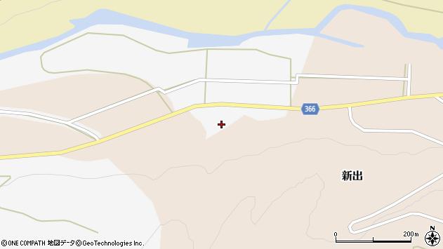 山形県酒田市新出牛道周辺の地図