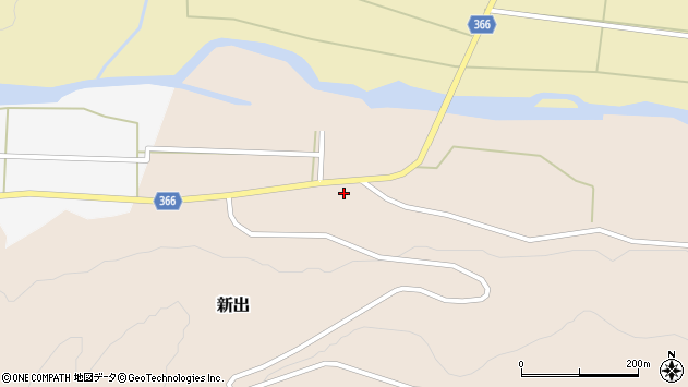 山形県酒田市新出村ノ前53周辺の地図