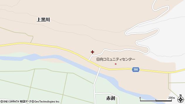山形県酒田市上黒川横道周辺の地図
