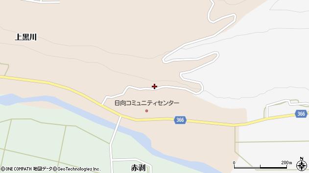 山形県酒田市上黒川日向平27周辺の地図