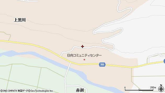 山形県酒田市上黒川日向平周辺の地図