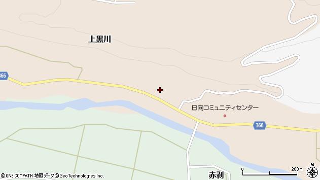 山形県酒田市上黒川宝泉田13周辺の地図