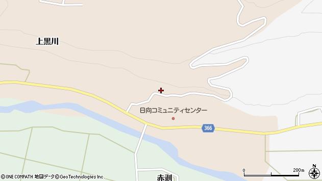 山形県酒田市上黒川日向平29周辺の地図