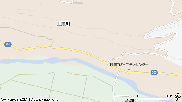 山形県酒田市上黒川宝泉田11周辺の地図
