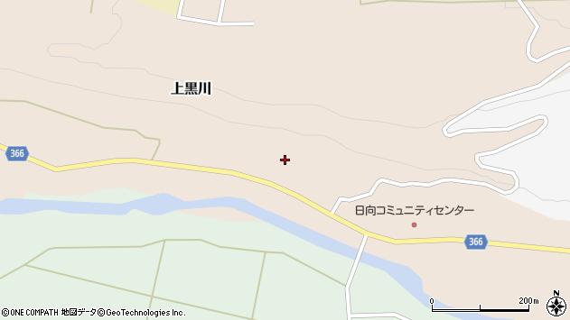山形県酒田市上黒川宝泉田23周辺の地図