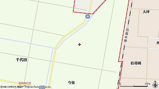 山形県酒田市千代田今泉周辺の地図
