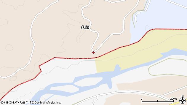 山形県酒田市福山向山周辺の地図