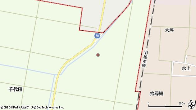 山形県酒田市千代田上今泉周辺の地図