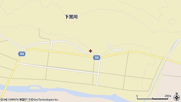 山形県酒田市下黒川楯坂63周辺の地図