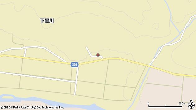 山形県酒田市下黒川大沢口37周辺の地図