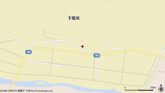 山形県酒田市下黒川上深田64周辺の地図