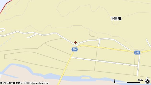 山形県酒田市下黒川六角27周辺の地図