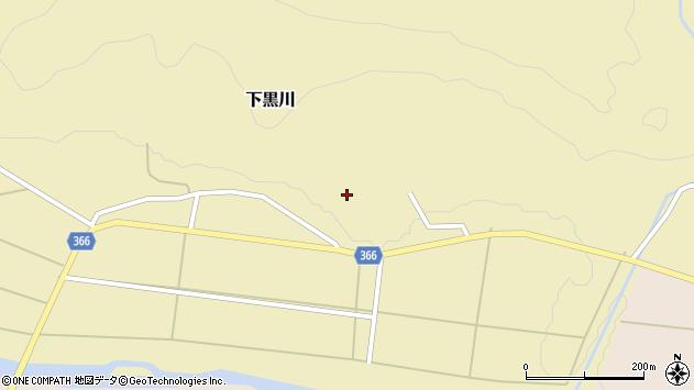山形県酒田市下黒川楯坂57周辺の地図