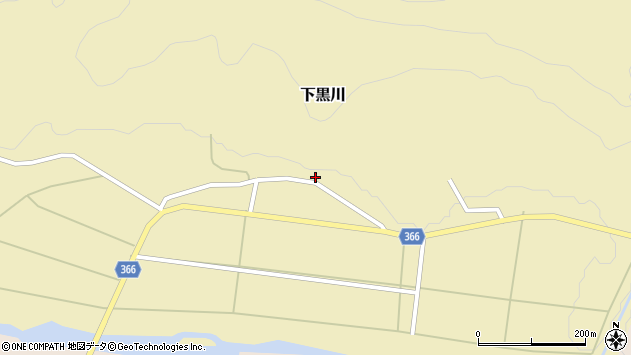 山形県酒田市下黒川上深田周辺の地図