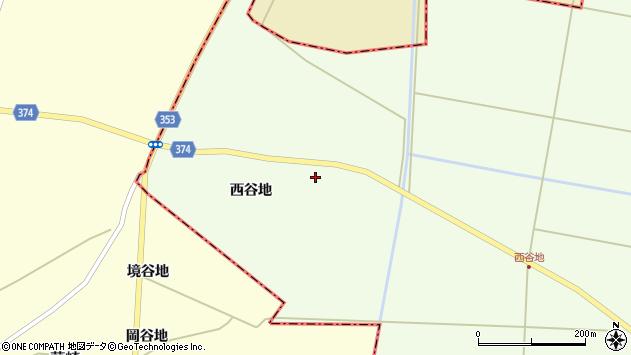 山形県酒田市千代田西谷地54周辺の地図