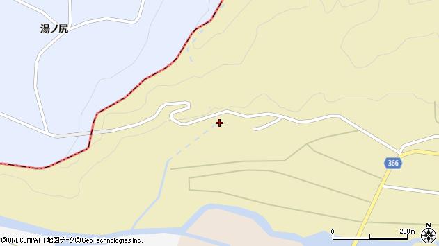 山形県酒田市下黒川山ノ下周辺の地図