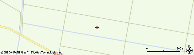 山形県酒田市千代田堀合渡周辺の地図