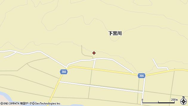 山形県酒田市下黒川水上16周辺の地図