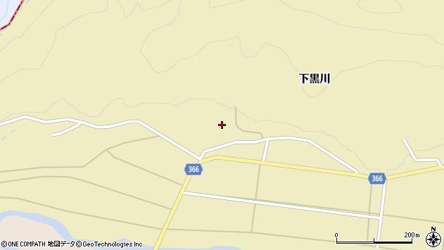 山形県酒田市下黒川水上27周辺の地図