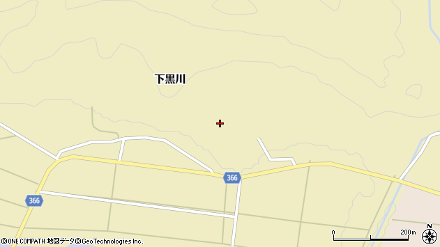 山形県酒田市下黒川楯坂52周辺の地図