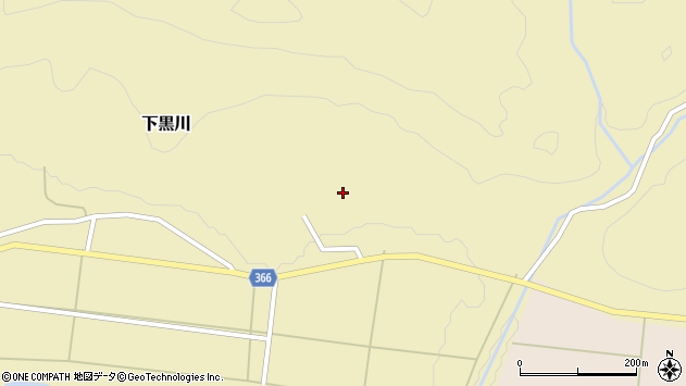 山形県酒田市下黒川楯坂13周辺の地図